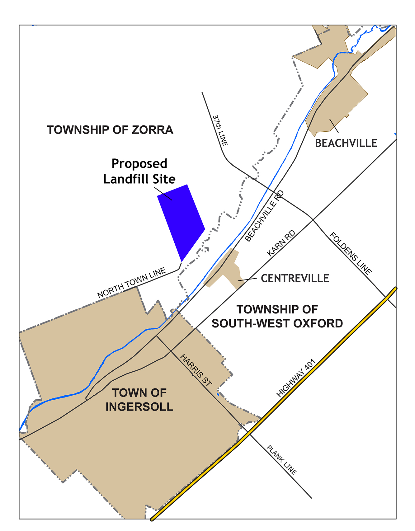 Proposed landfill site